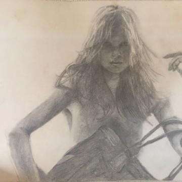 学生時代に描いたデッサンを見つけました。美容師になるためにこんな勉強もしていた!